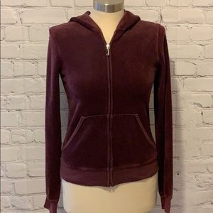 Juicy Couture Maroon Velour Track Jacket